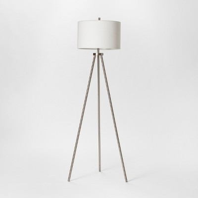 Ellis Collection Tripod Floor Lamp Nickel Lamp Only - Project 62™