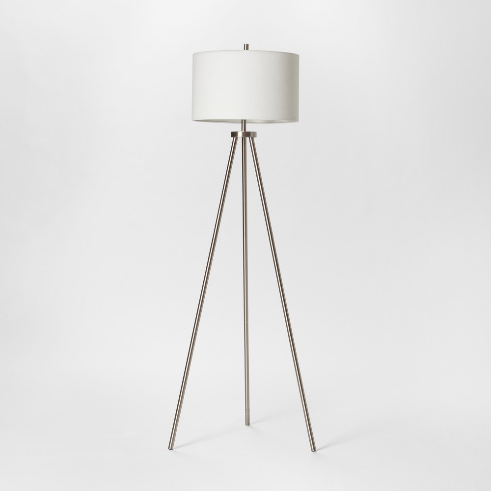 Image of Ellis Collection Tripod Floor Lamp Nickel Includes Energy Efficient Light Bulb - Project 62