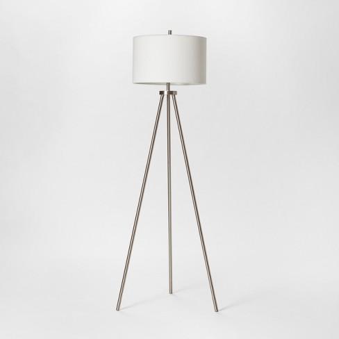 Ellis Collection Tripod Floor Lamp Nickel  - Project 62™ - image 1 of 2