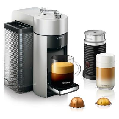 Nespresso Vertuo Coffee and Espresso Machine with Aeroccino Silver by De'Longhi