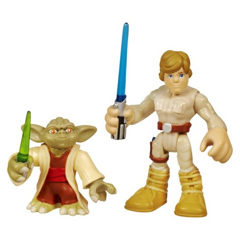 Star Wars Jedi Force Playskool Heroes Yoda & Luke Skywalker - image 1 of 2