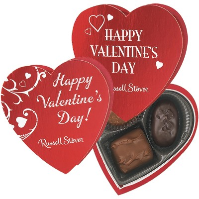 Russell Stover Valentine's Day Chocolates Red Foil Heart - 1.75oz