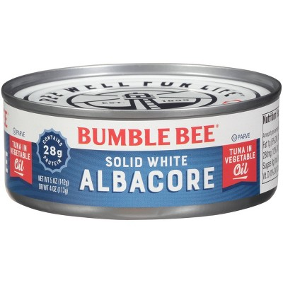 Bumble Bee Solid White Albacore Tuna in Vegetable Oil - 5oz