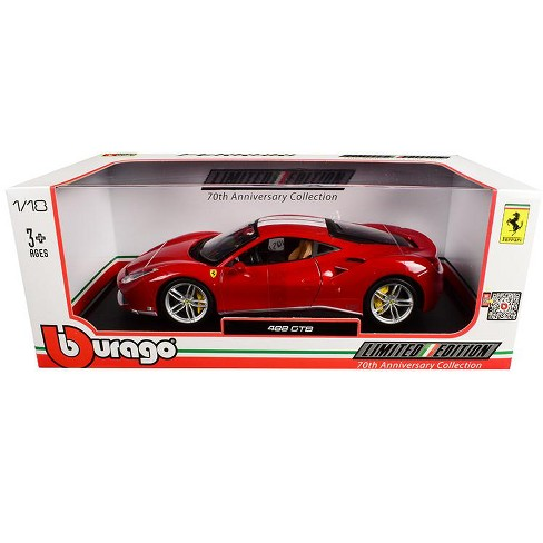 Ferrari 488 Gtb Red With White Stripes 70th Anniversary The Schumacher 1 18 Diecast Model Car By Bburago Target