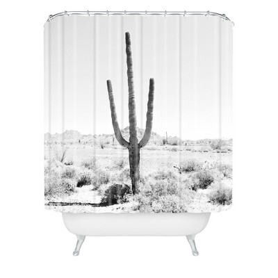 Etonnant Desert Times Shower Curtain White   Deny Designs