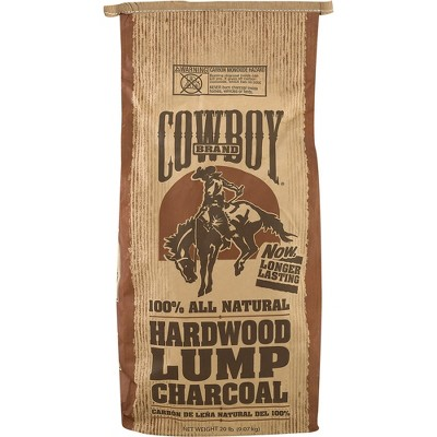 Cowboy Easy Light Natural Hardwood Lump BBQ Charcoal Briquettes for Grilling and Smoking, 20 Pound Bag
