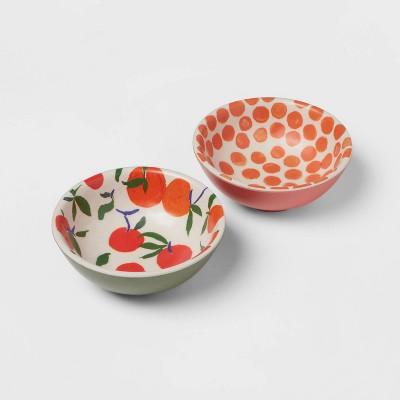 4.5oz 2pk Bamboo Melamine Oranges Mini Bowls - Opalhouse™