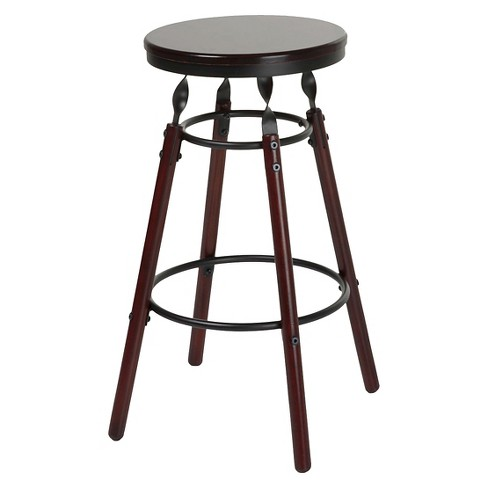 "Boston 26"" Counter Stool Metal/Dark Cherry - Fashion Bed Group - image 1 of 4"