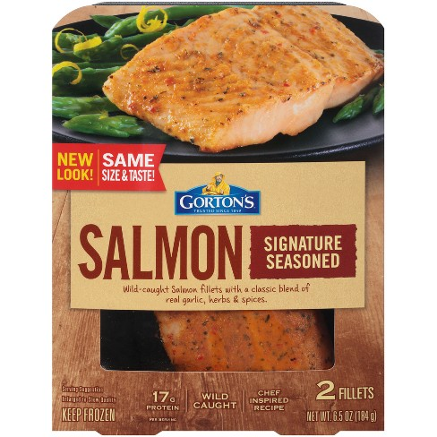 Gorton's® Signature Seasoned Salmon - 6.5oz - image 1 of 1