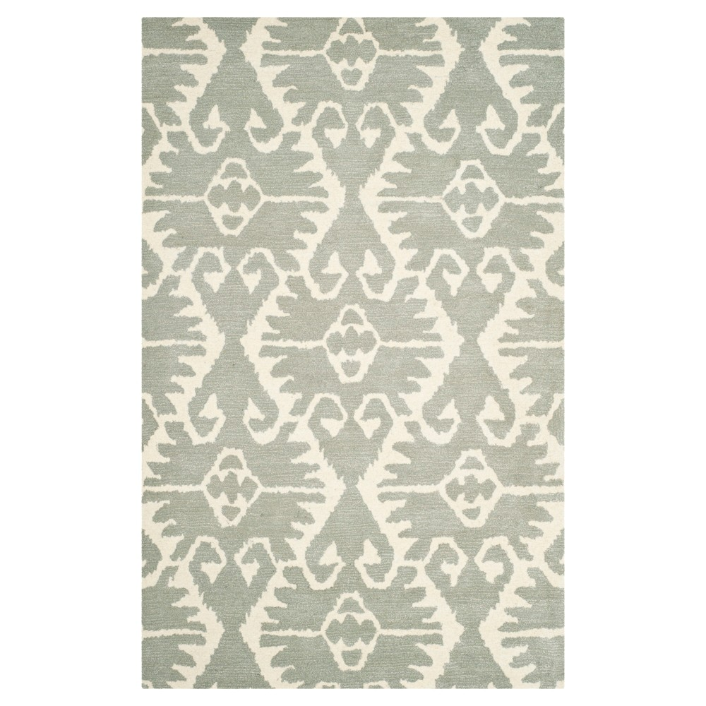 Garrard Area Rug - Gray/Ivory (6'x9') - Safavieh