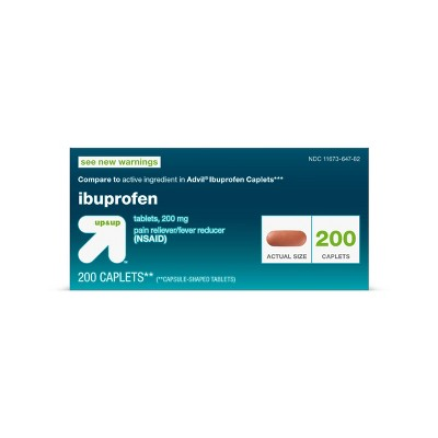 Ibuprofen (NSAID) Pain Reliever & Fever Reducer Caplets - 200ct - up & up™