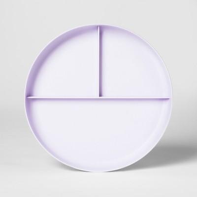 7.3  Plastic Divided Kids Plate Purple - Pillowfort™