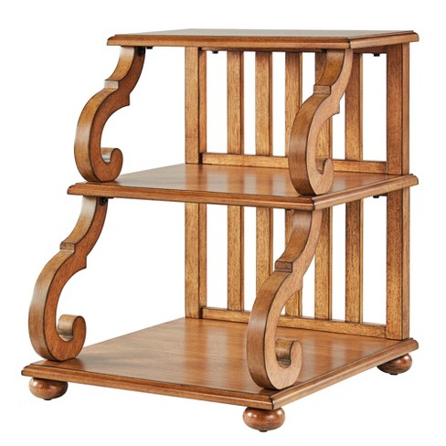 Ravenswood Carved Detail Tiered Accent Table - Inspire Q® - image 1 of 4
