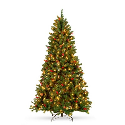 Best Choice Products Pre-Lit Pre-Decorated Holiday Spruce Christmas Tree w/ Metal Base
