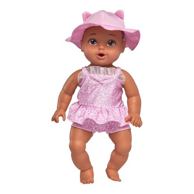 "Perfectly Cute 14"" My Sweet Beach Baby Doll - Brunette with Brown Eyes"