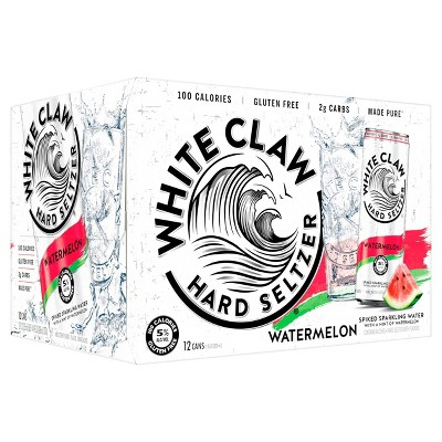 White Claw Watermelon Hard Seltzer - 12pk/12 fl oz Cans