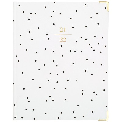 """2021-22 Academic Planner 9.875""""x7.875"""" Casebound Weekly/Monthly Black and White Dot - Sugar Paper™"""