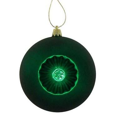"Northlight 6ct Matte Retro Reflector Shatterproof Christmas Ball Ornament Set 4"" - Green"
