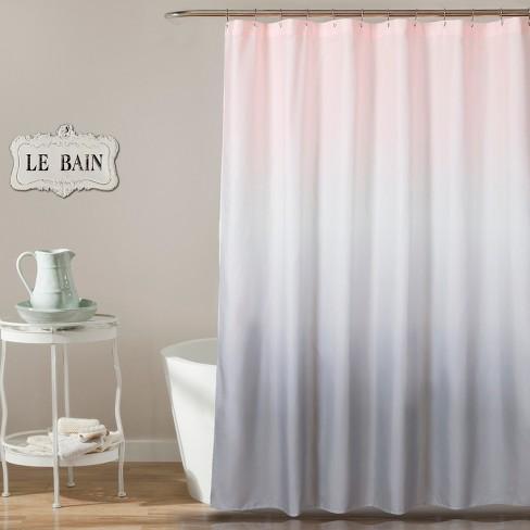 Ombre Design Shower Curtain Pale Blush - Lush Dcor - image 1 of 1