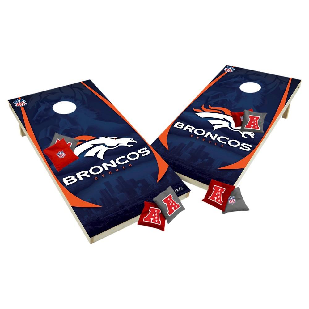 NFL Denver Broncos Wild Sports Tailgate Toss 2x4 Platinum Shield