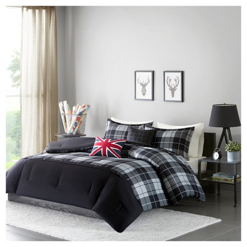 Brayden Plaid Printed Comforter Set - image 1 of 6