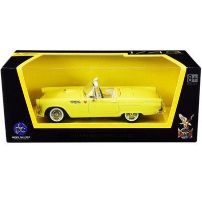 1955 Ford Thunderbird Convertible Yellow 1/43 Diecast Model Car by Road Signature