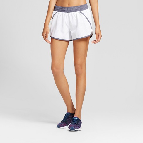 Women's Run Shorts - C9 Champion® White Solid L - image 1 of 2