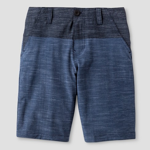 Boys' Flat Front Hybrid Shorts Navy 8 - NO FEAR - image 1 of 2