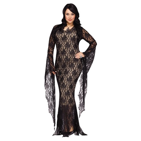 Women\'s Plus Size Lace Morticia Costume 1X