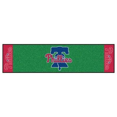 MLB Philadelphia Phillies Bell 1.5'x6' Putting Mat - Green