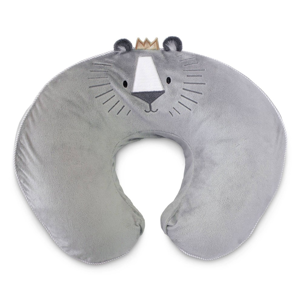 Image of Boppy Nursing Pillow Luxe - Royal Lion Gray