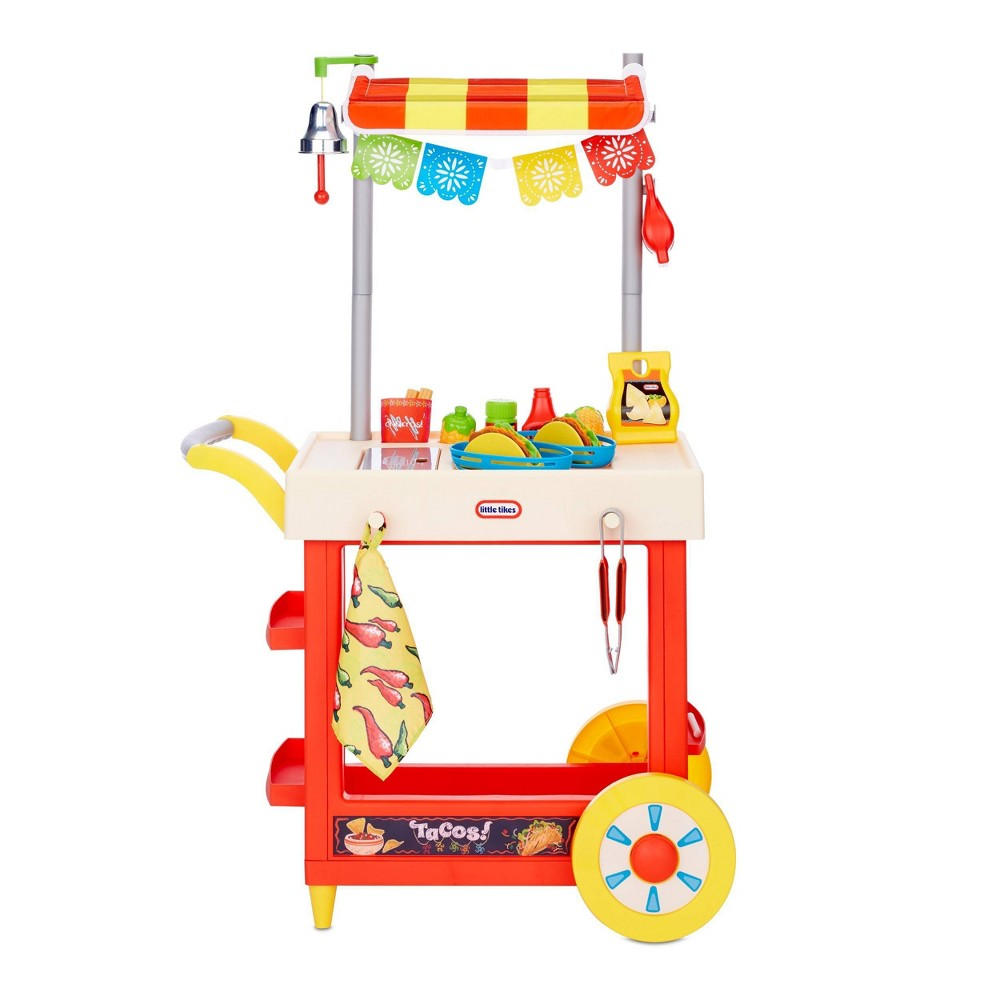 Little Tikes Ultimate Role Play Taco Cart With 25 Accessories And Chalkboard