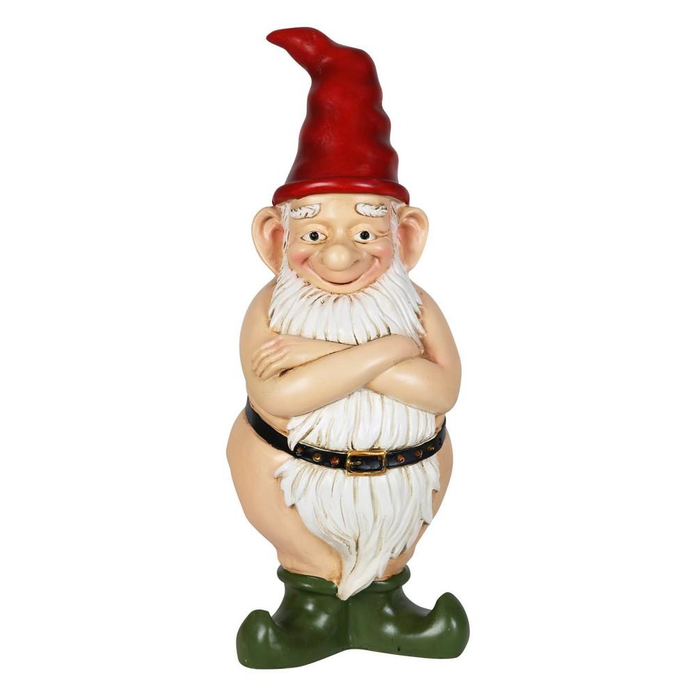 "Promos 13.7"" Resin Naked Ned Garden Gnome - Exhart"