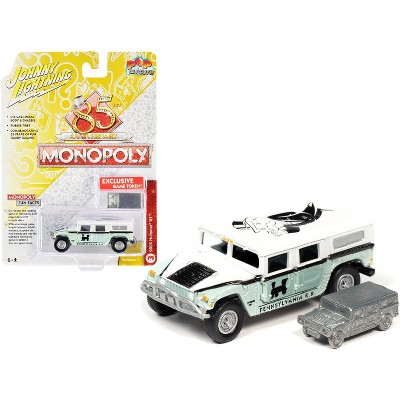 "2004 Hummer H1 and Game Token ""Monopoly 85th Anniversary"" ""Pop Culture"" Series 1/64 Diecast Model Car by Johnny Lightning"