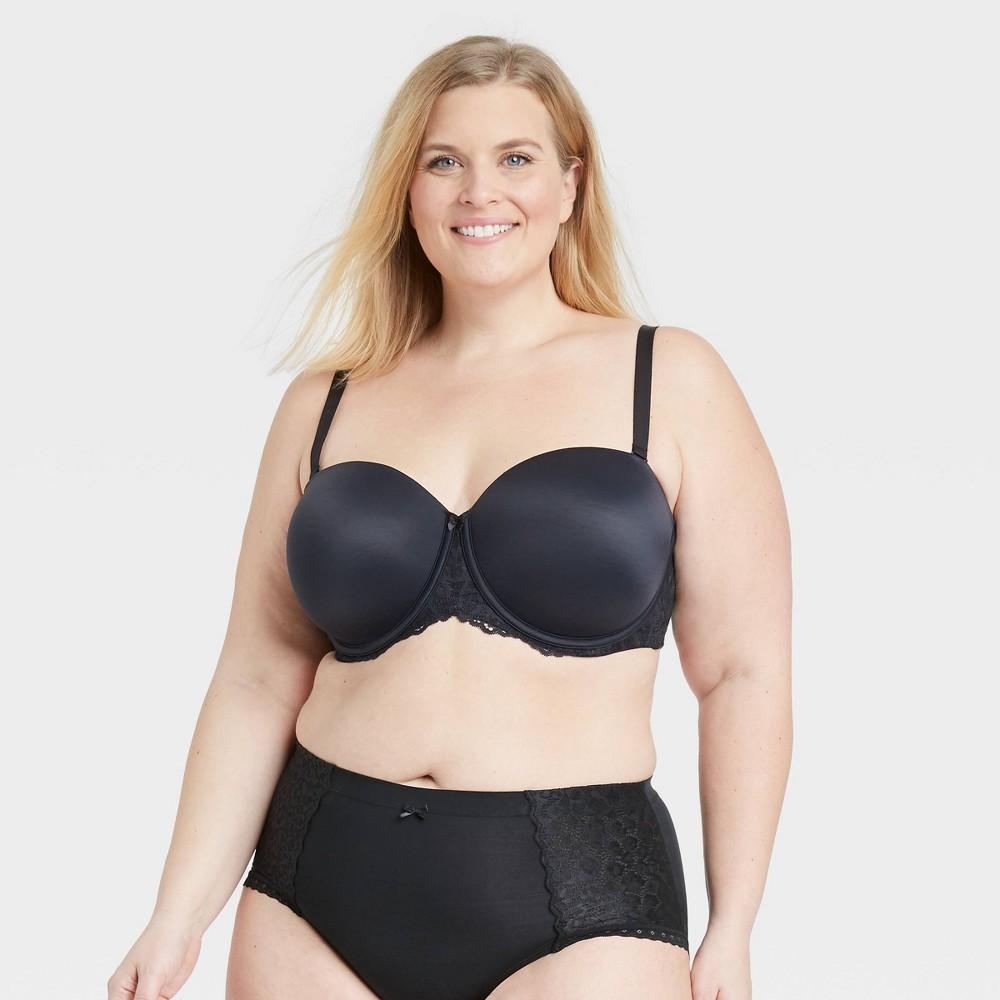 Women 39 S Plus Size Strapless Bra Auden 8482 Black 42c