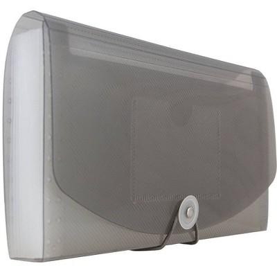 "JAM Paper 5"" x 10 1/2"" 13 Pocket Plastic Expanding File Folder - Check Size"