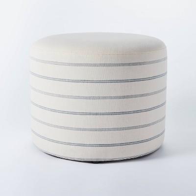 Lynwood Upholstered Round Cube White - Threshold™ designed with Studio McGee