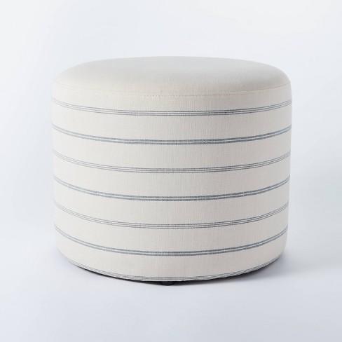 Lynwood Upholstered Round Cube - Threshold™ designed with Studio McGee - image 1 of 4