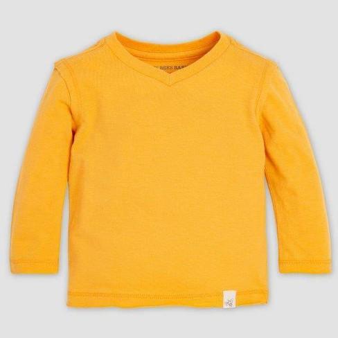 Burt's Bees Baby® Baby Boys' Basic High V-Neck Organic Cotton T-Shirt - Yellow - image 1 of 1