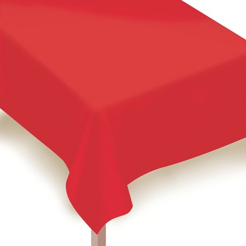 "54""x108"" 2ct Disposable Tablecover Red - Spritz™ - image 1 of 1"