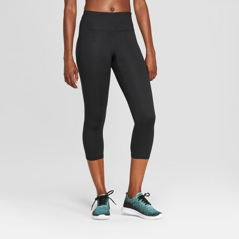"Women's Everyday High-Waisted Capri Leggings 20"" - C9 Champion® Black - image 1 of 2"