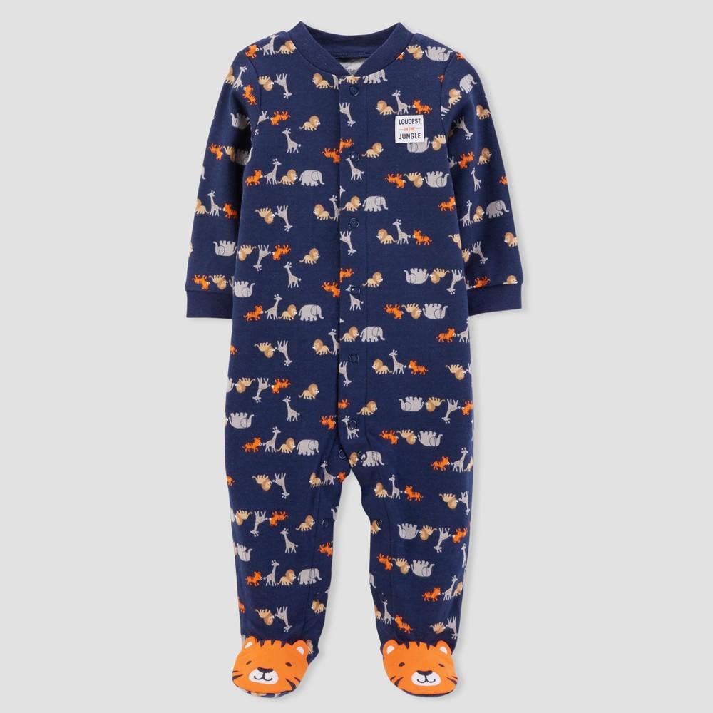 Baby Boys' Safari Sleep N' Play - Just One You made by carter's Navy Newborn, Blue