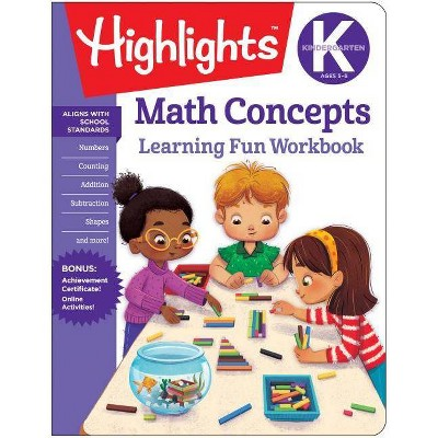 Math Concepts Kindergarten -  (Highlights Learning Fun Workbooks) (Paperback)
