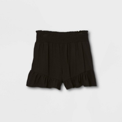 Girls' Smocked Waist Ruffle Shorts - art class™