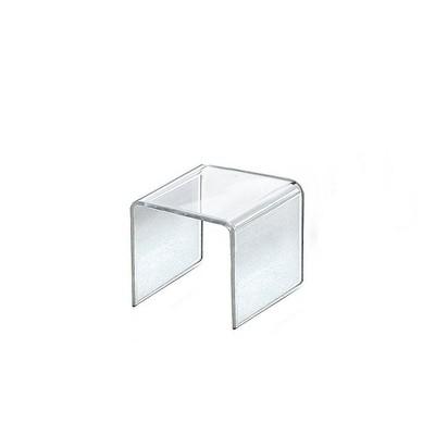 "Azar Displays 3.5"" 4pk Acrylic Riser Display Square"