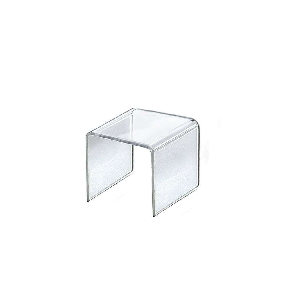 Azar Displays 3 5 4pk Acrylic Riser Display Square