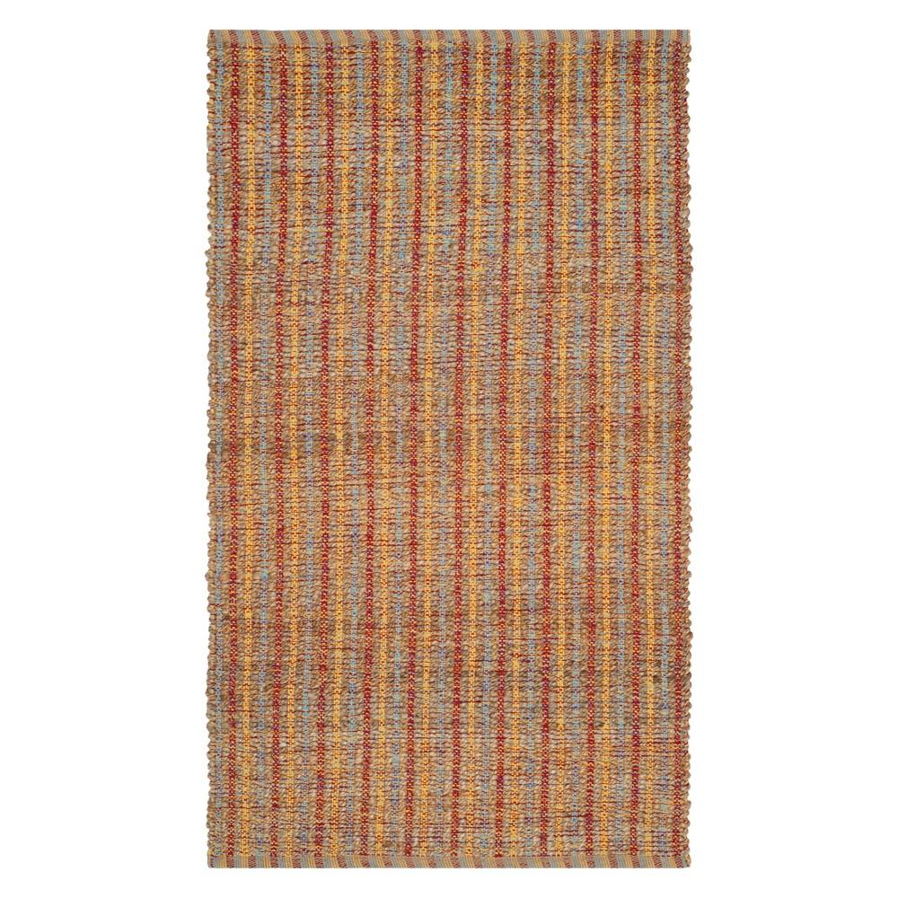3 X5 Stripe Woven Accent Rug Beige Rust Safavieh