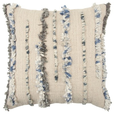 """20""""x20"""" Oversize Striped Decorative Filled Square Throw Pillow - Rizzy Home"""