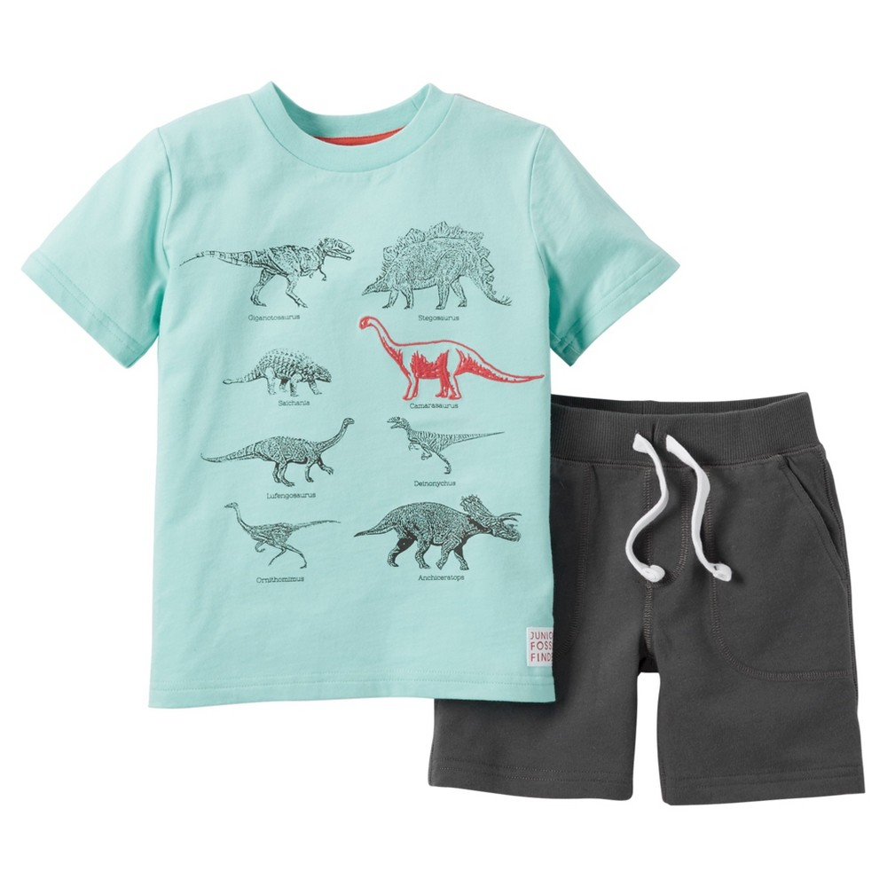 Just One You Made by Carter's Toddler Boys' 2pc Short Set - Mint/Grey 6, Green