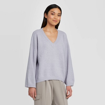 Women's V-Neck Pullover Sweater - Prologue™ Purple